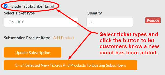 how to add a new product or ticket to your existing subscription