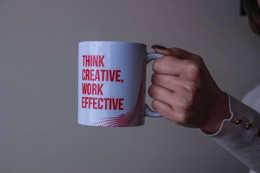 coffee mug think creative work effective