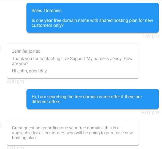 Hostgator chatting