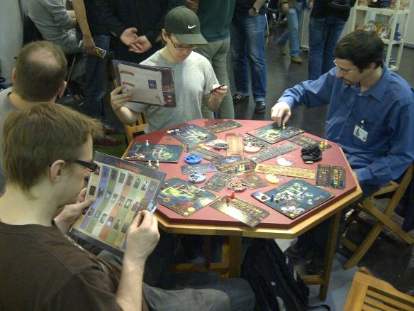 Board game demo at Essen Spiel
