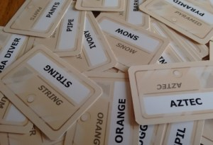 Codenames cards