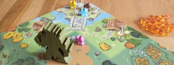 Skulk Hollow board game in play, with guardian Grak
