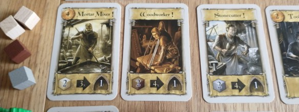 craftsmen cards in the pillars of the earth board game