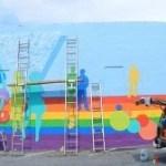 Central Ave. LGBT mural taking shape