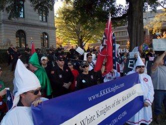 A North Carolina KKK group joined the neo-Nazi rally.
