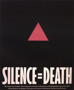 Silence = Death poster. Click to enlarge.