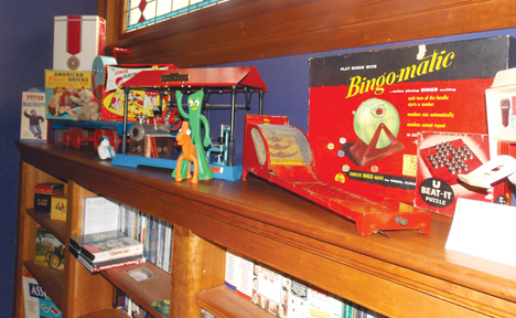 Toys dating from Steve Warren's childhood and earlier bring charm to their collection.