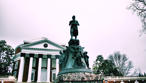 A statute of Thomas Jefferson at the University of Virginia. Photo Credit: Phil Roeder, via Flickr. Licensed CC.