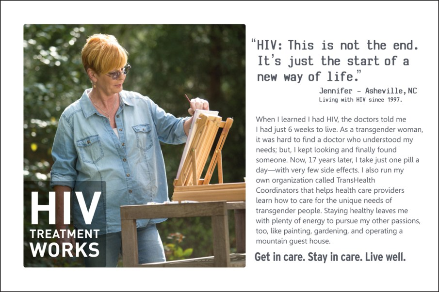 HIV Treatment Works - Jennifer Palm Card