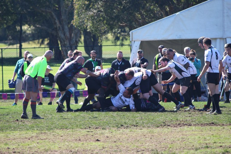 The Royal Bucks battle against the New Zealand Falcons Photo Credit: Charles Fortanbary