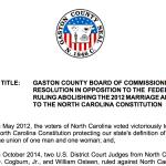 Gaston to consider anti-gay resolution
