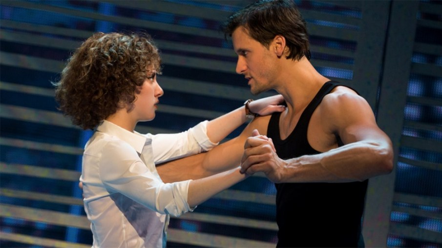 """Jillian Mueller (Baby) and Samuel Pergande (Johnny) in the North American tour of """"Dirty Dancing — The Classic Story on Stage."""" Photo Credit: Matthew Murphy"""