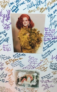 Many wrote tributes to Brandy Alexander in her memory. Photo Credit: Tommy Feldman, Tyvola Design