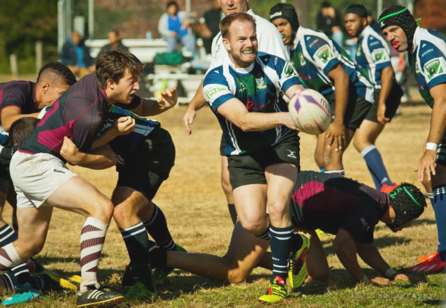Rugby is a tough sport, but players, like the Charlotte Royals, enjoy the physical rewards it presents, as well as the opportunity to play on the global field in the Bingham Cup. Photo Credit: Alex Aguilar