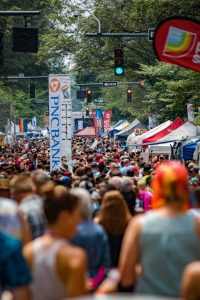 Over 120,000 came out for the Charlotte Pride Festival last season and more is expected this year. Photo Credits: Photo by Robert Harmon (heavenlydark.com), courtesy Charlotte Pride.