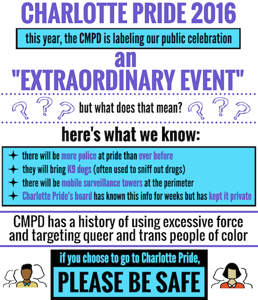 Charlotte Pride extraordinary event