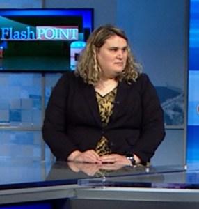 Paige Dula on the set of NBC Charlotte's 'Flash Point.' Photo Credit: WCNC still