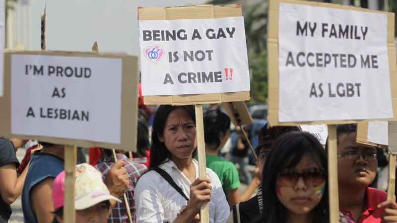 indonesia gay rights protest