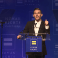 featured image Watch Adam Rippon receive HRC's Visibility Award and deliver a moving speech on living open and free