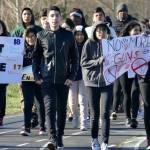 Were students prevented from taking part in walkouts protesting gun violence?