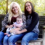 Lesbian couple share pregnancy