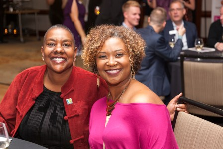 Equality North Carolina Executive Director Kendra Johnson (left) enjoying the festivities.