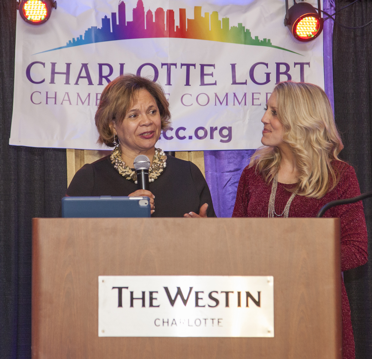 Charlotte Business Resources, Non-Profit of the Year, accepted by Mayor Vy Lyles and Christi Floyd, director.