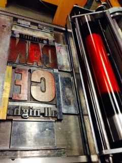 go radiate letterpress