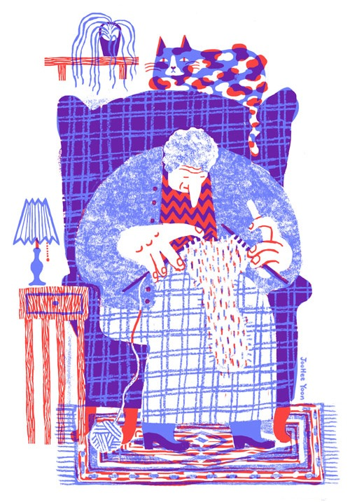 Yoo Hee Yoon, knitting