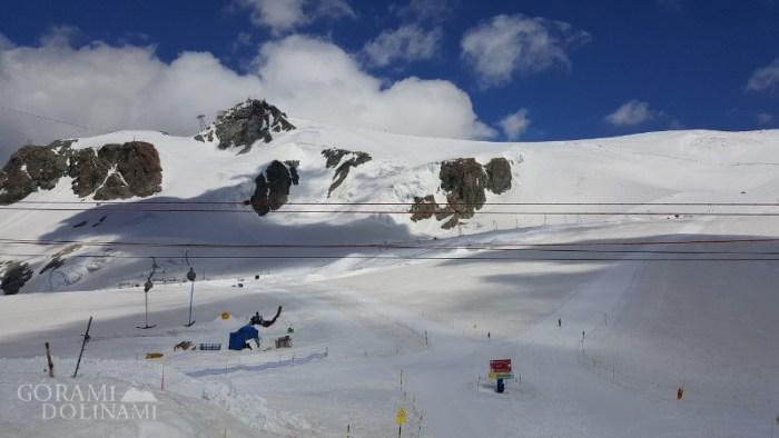 Klein Matterhorn i trasa na Breithorn