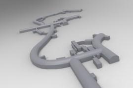 3D model podzemnog dijela aerodroma Željava