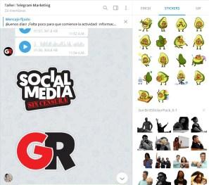 Ejemplos del uso de stickers para grupos