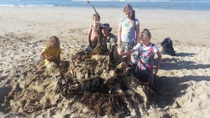 The Fresh Air Kids explore and enjoy the beach in their weekly outdoor sessions in Anglesea.