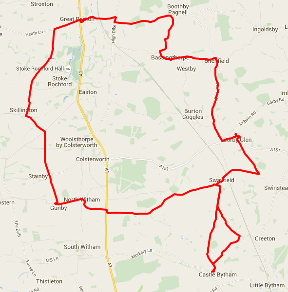 29-06-2015 - bike ride route map