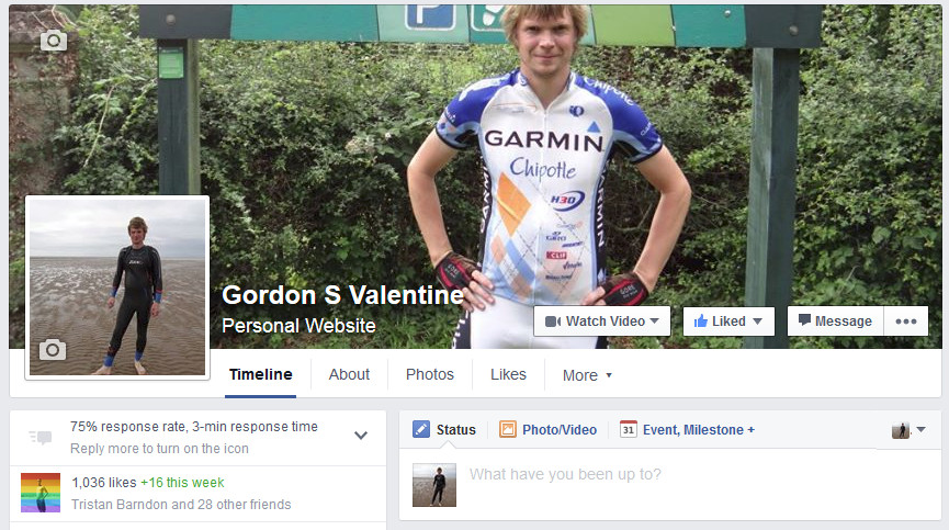 Gordon Valentine | facebook fan page | 1036 fans