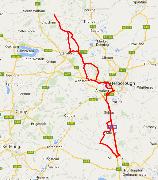 06-06-2016 - bike ride route map