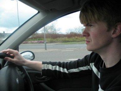 Driving around Glasgow