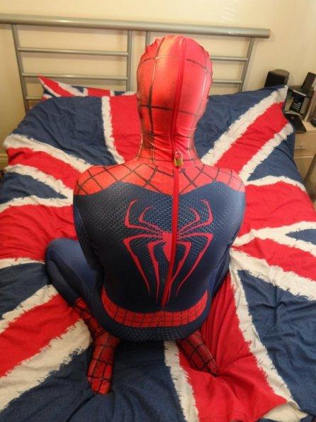 Locked in Amazing Spiderman 2 Morphsuit