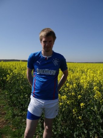 Rangers home shirt and shorts