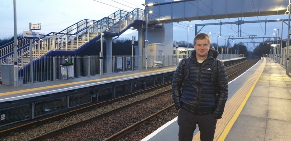 Myself at Robroyston railway station