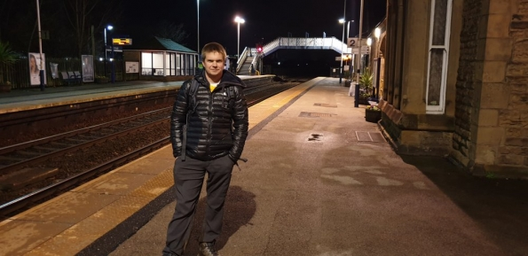 Myself at Mexborough railway station