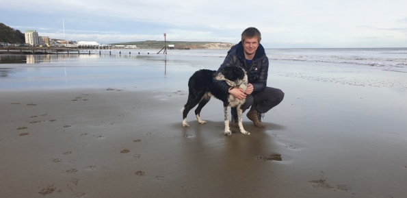 Cooper and myself on the Isle of Wight