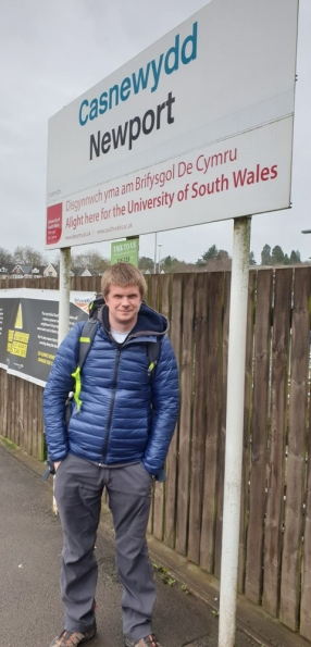 Myself at Newport railway station