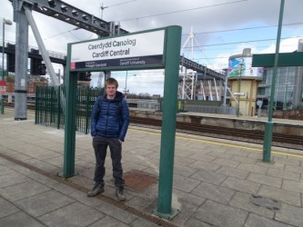 Myself at Cardiff Central railway station