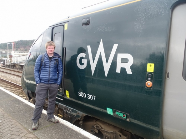 Myself at Swansea railway station