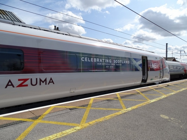 LNER Class 800 Azuma 800104 at Grantham railway station