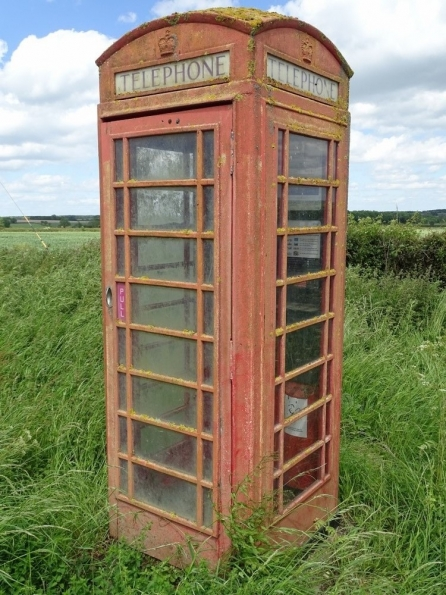 Red telephone box at Westby