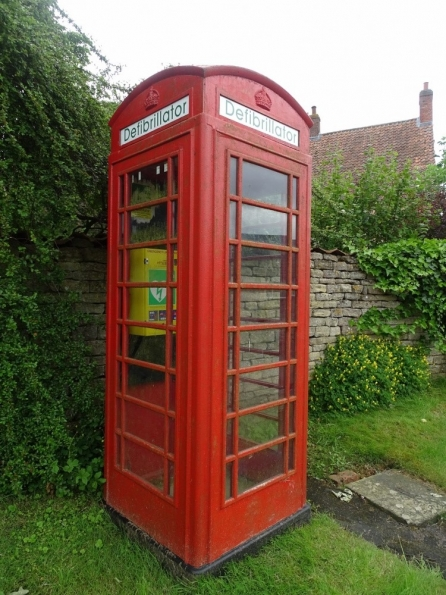 Red telephone box, Skillington