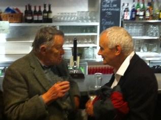 Gordon with Sir Peter Maxwell Davies, Bristol August 2012