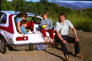 with the family in Santa Barbara, California